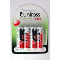 Uniross Hybrio Pack Of Four Batteries 2100 Mah