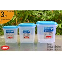 CHETAN 3 PC SET, PLASTIC KITCHEN STORAGE CONTAINERS AIRTIGHT.PCHTN.NO.005