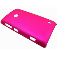 Rubberized Hard Back Pink Cover Case For Nokia Lumia 520 - MOB-101