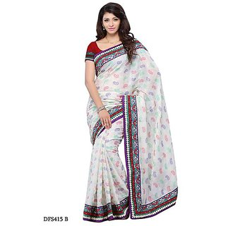 First Loot White Color Art Silk Saree - Divdfs415B
