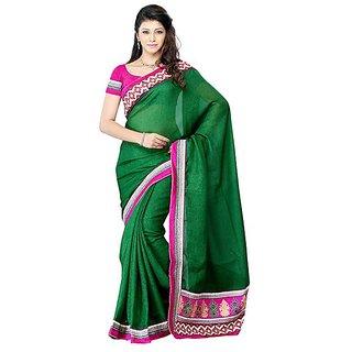 First Loot Green Color Art Silk Saree - Divdfs427D
