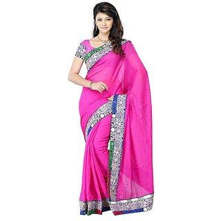 First Loot Pink Color Art Silk Saree - Divdfs431B