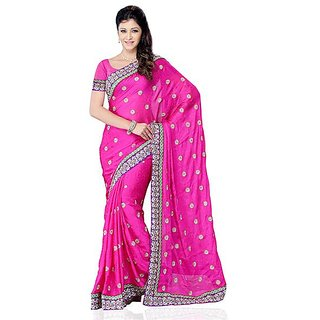 First Loot Pink Color Georgette Saree - Divdfs442A
