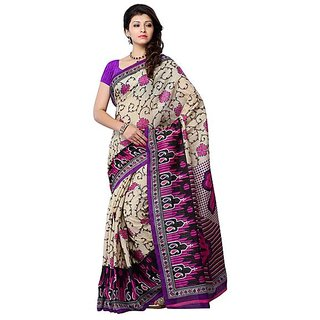 First Loot Beige And Pink Color Art Silk Saree - Divdfs450A