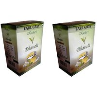 Dhavala Green Tea 200 Gms With Natural Earl Grey-set Of 2