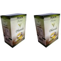 Dhavala Green Tea 200 Gms With Natural Peach-set Of 2
