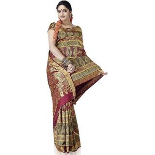 Pure Silk Kanjeevaram Hand woven Saree-20-JG1-Silk