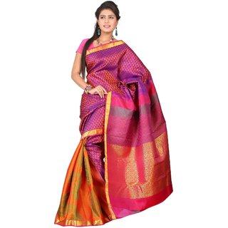 Pure Silk Kanjeevaram Hand woven Saree-Maroon-JG24-Silk