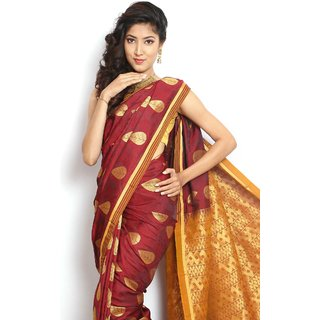 Raw Silk-Maroon-MSA16-Art Silk
