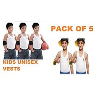 Lux Kids Sleeveless Vests  Pack Of 5