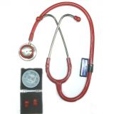 Srm  - Stethoscope Stainless Steel (red /burgandy)