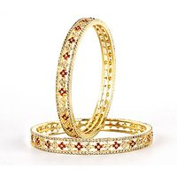 VK Jewels Wedding Gold Plated Bangles- BG1008G