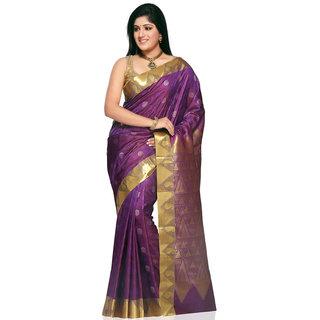 Kanchipuram or Kanchi Polysilk Saree
