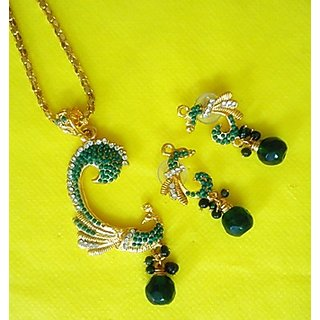 Designer Peacock Pendants Set