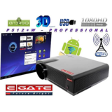WIFI ANDROID EGATE P512+W 3500 LUMENS HD LED PROJECTOR - USB + HDMI + TV + MiS