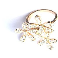 GirlZ!Festive Special Fashion Rhinestone Flower Ring