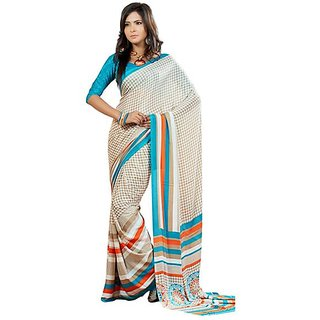 Firstloot Trendy Printed Casual Wear Crape Saree