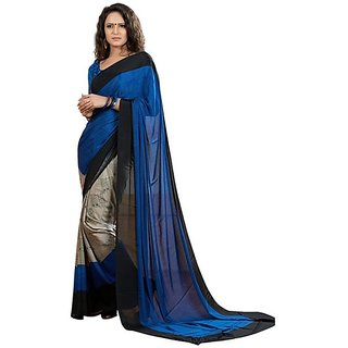 Firstloot Lovely Geometrical Printed Crape Saree