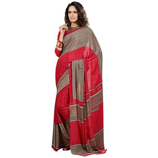Firstloot Attractive Triangle Motif Printed Crape Saree