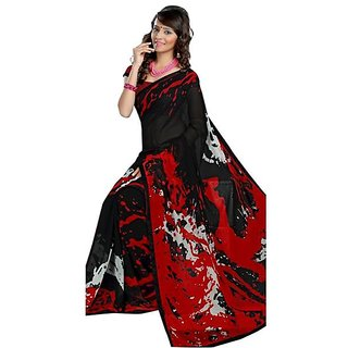 Firstloot Pleasing Contemporary Printed Faux Georgette Saree
