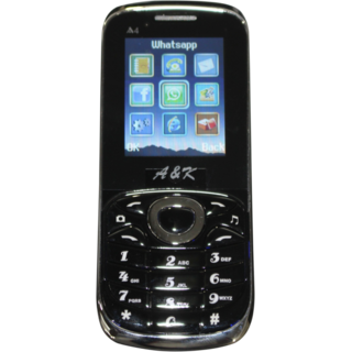 AK A4 Mobile Black ( Metal body / 1200 mah battery / Earphone) 1.8  Dual Sim Feature Phone