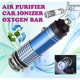 Gadget Hero's New Mini Car Auto Ionizer Fresh Air Purifier Oxygen Ozone Bar Cleaner Deodorant Blue Color Car 12V DC Powered No Refilling Required