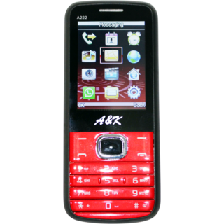 A&K A222 Mobile Red Black