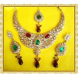 EXCLUSIVE DESIGNER KUNDAN 4 PIECE NECKLACE SET