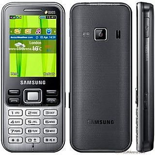 Samsung Metro DUOS C3322 (Deep Black) available at ShopClues for Rs.4000