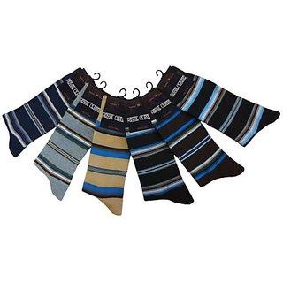 Formal 6 Pairs Mens Fine Fit Socks- Upper Strip