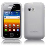 Silicone Silicon Tpu White Back Case Skin Cover For Samsung Galaxy Young Y S5360 5360