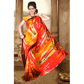 Ethnicbasket 60 Gram Georgette Party Wear Saree.EBS110011006