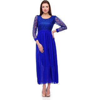 Sukuma Blue Net Maxi Dress