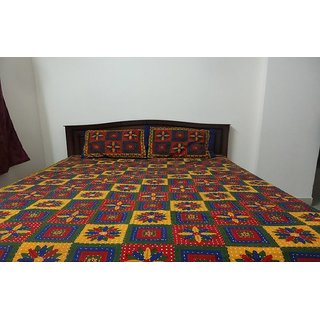 kantha work bed Sheets