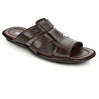 Coolers Stylish Mens Brown Formal Slippers