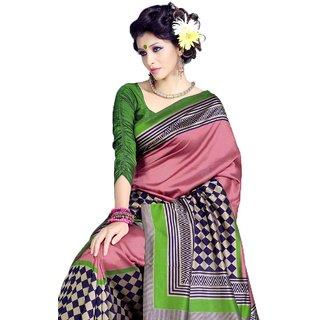 Sudarshan Silks Multicolor Art Silk,Georgette Fascinating Fancy Saree (SSM18187)