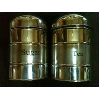 Canister Set Of 2 For Storing Tea And Sugar