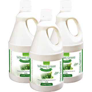 WHEAT GRASS JUICE SUGAR FREE (WITH ALOEVERA  AMLA) 1 LTR. (COMBO PACK OF THREE)