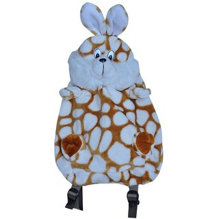 KinderGarden Play School Bag Brown & White Dotted Design