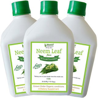 NEEM JUICE (SUGAR FREE) 1 LTR. (COMBO PACK OF THREE)