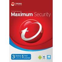 Trend Micro Titanium Maximum Security 2015 - 1 year / 3 pc  (digital delivery)