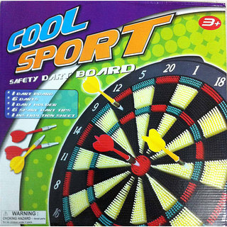 Protoner Safety Dart Board With 6 Darts High Quality