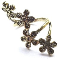 GirlZ!Fashion vintage flower finger ring - Gold
