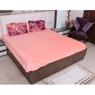 Indiweaves Polyester 4 PCS Extra Soft Winter Special Set of  Comforter, Bed Sheets and Pillows