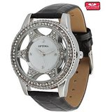 Optima Silver White Star Watch 9052 SWB