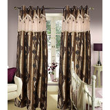 Premium Quality Gold Touch Designer Curtain With Matching Tassel Free -(4x9ft)