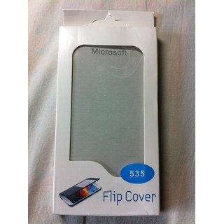 Microsoft Lumia 535 Leather Folio Flip Flap Cover Case Battery Back Case