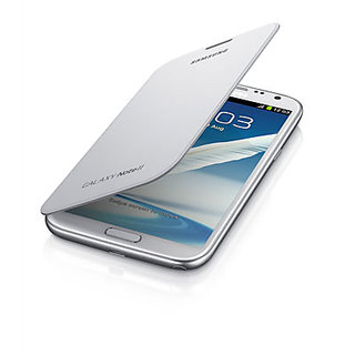 flip cover samsung galaxy note 2 white available at ShopClues for Rs.183