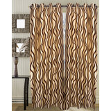 Beautiful Design Eyelet Curtain(set Of 2)- (4x7ft)