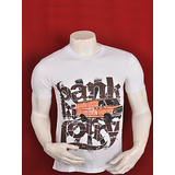 BANK KI LORRY MEN WHITE GRAPHIC PRINTED T-SHIRT